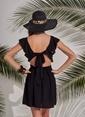 Morhipo Beach Volan Detaylı Elbise Siyah